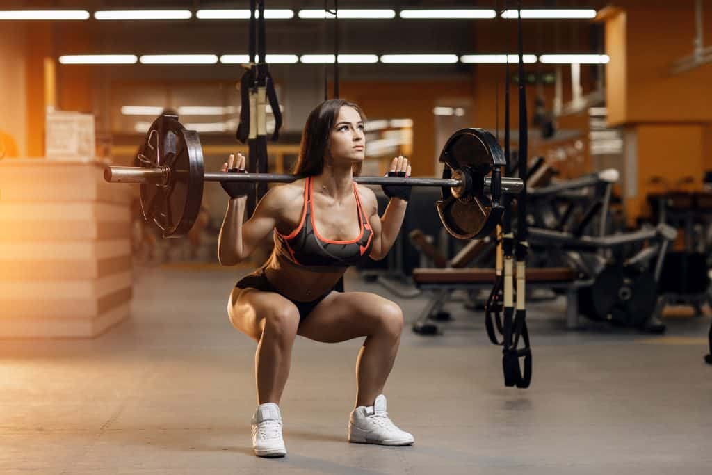 Barbell squats knee dominant exercises